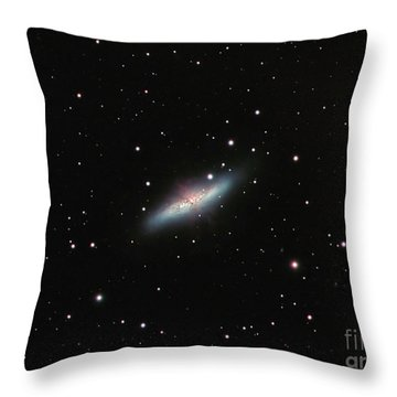 Galaxy M82 In Ursa Major Throw Pillow