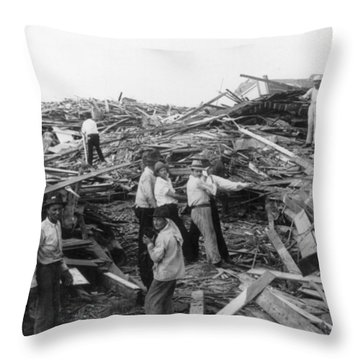 Galveston Disaster - C 1900 Throw Pillow by International  Images