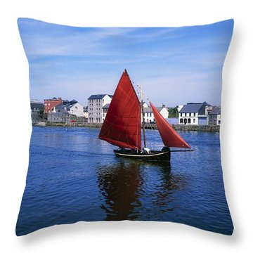 Galway, Co Galway, Ireland Galway Throw Pillow by The Irish Image Collection