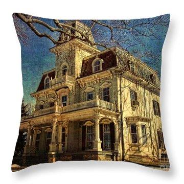 Gambrill Mansion Throw Pillow by Lianne Schneider