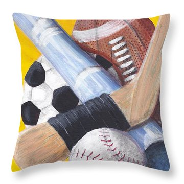 Game On Throw Pillow by Susan Bruner