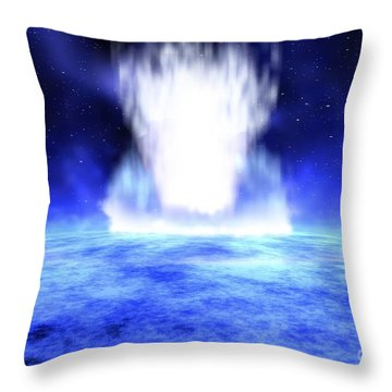 Gamma Ray Burst Erupts From Star Throw Pillow by NASA / Science Source