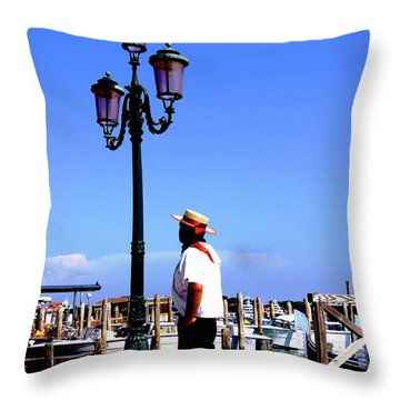 Gandola Captain Throw Pillow