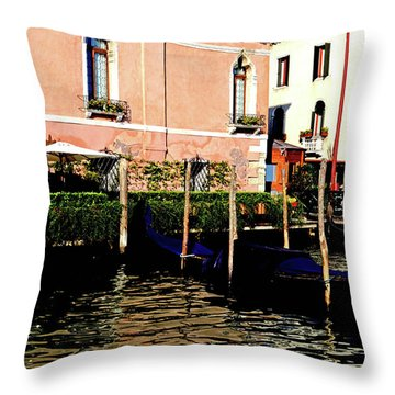 Gandola Docking Throw Pillow