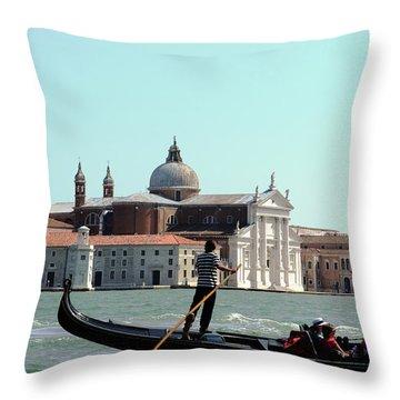Gandola Rides In Venice Throw Pillow