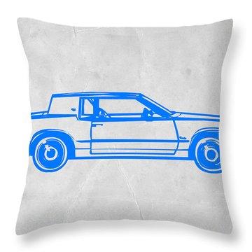 Gangster Car Throw Pillow by Naxart Studio