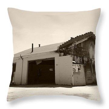 Garage No More Throw Pillow by Nina Fosdick