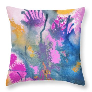 Garden Fantastico Throw Pillow by Renate Nadi Wesley