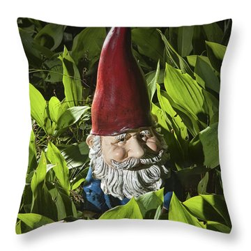 Garden Gnome No 0065 Throw Pillow by Randall Nyhof