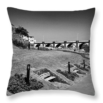 Garden In Ribeira Grande Throw Pillow by Gaspar Avila
