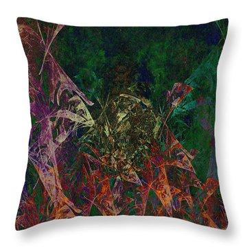 Garden Of Color Throw Pillow by Christopher Gaston