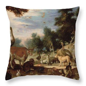 Garden Of Eden Throw Pillow by Jacob Bouttats