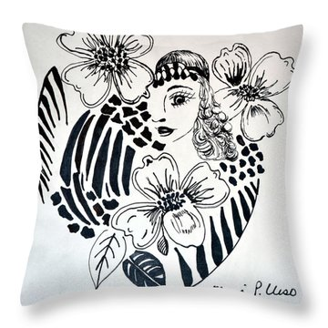 Garden Of Eve Throw Pillow by Maria Urso