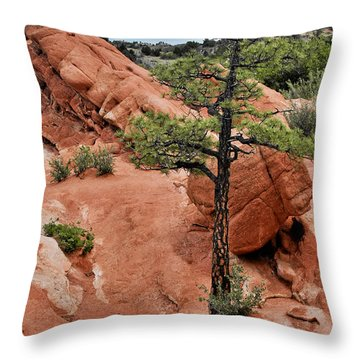 Garden Of The Gods  - The Name Says It All Throw Pillow by Christine Till