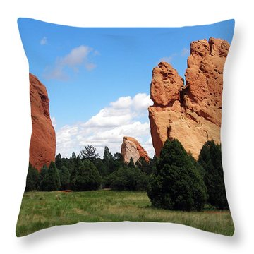 Throw Pillow featuring the photograph Garden Of The Gods by David Pantuso