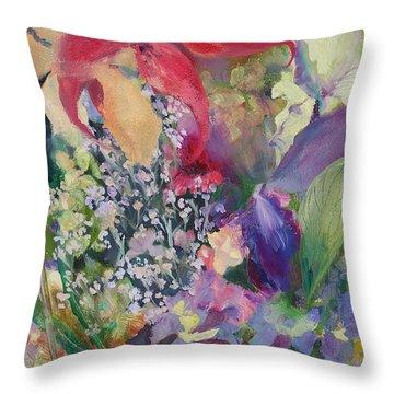 Garden Party Throw Pillow by Claudia Smaletz