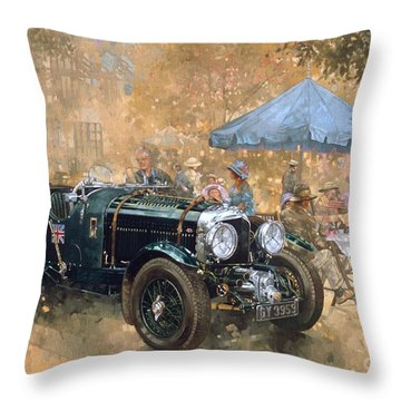 Garden Party With The Bentley Throw Pillow