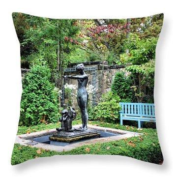 Garden Statuary Throw Pillow by Kristin Elmquist