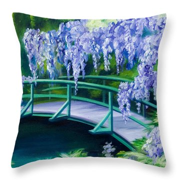 Gardens Of Givernia II Throw Pillow by James Christopher Hill