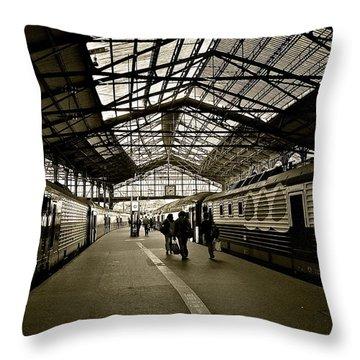 Throw Pillow featuring the photograph Gare De Saint Lazare by Eric Tressler