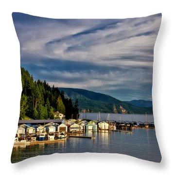 Throw Pillow featuring the photograph Garfield Bay by Albert Seger