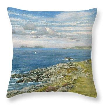 Garrison Walk Throw Pillow by John Brett