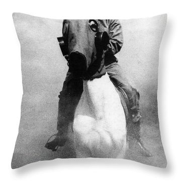 Gas Masks Throw Pillow by Science Source