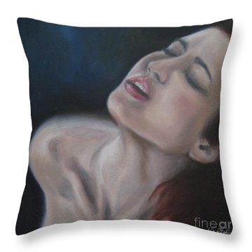 Gasp Throw Pillow by Jindra Noewi