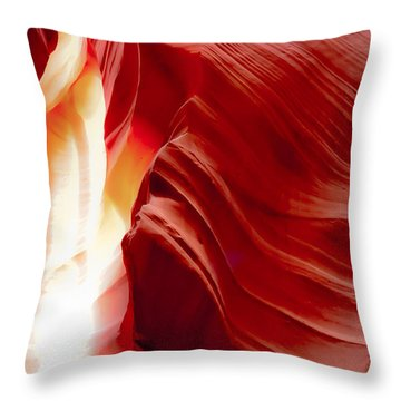 Gasping To Get Out Throw Pillow by Don Mennig
