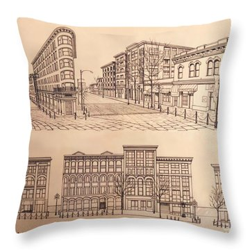 Gastown Vancouver Canada Prints Throw Pillow by Kim Hunter