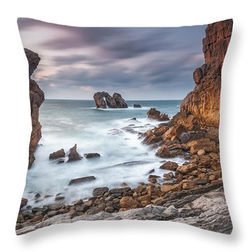 Gate In The Ocean Throw Pillow by Evgeni Dinev