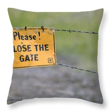 Gate Keeper Throw Pillow by Juls Adams