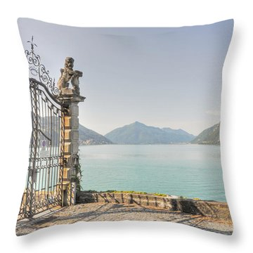 Gate On The Lake Front Throw Pillow