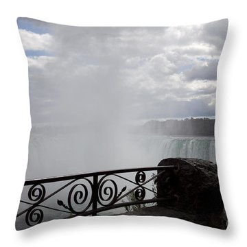 Gate To Fall Throw Pillow by Amanda Barcon
