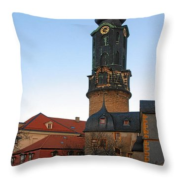 Gatehouse Weimar City Palace Throw Pillow by Christine Till