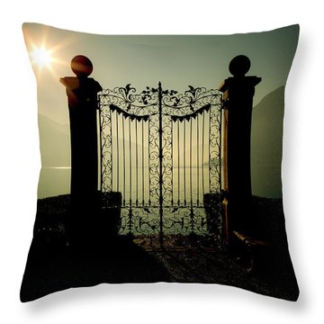 Gateway To The Lake Throw Pillow by Joana Kruse