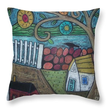 Gateway To The Sea Throw Pillow by Karla Gerard