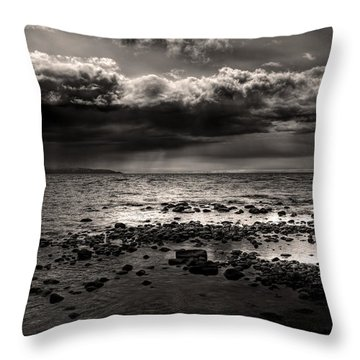 Gathering Storm Clouds Throw Pillow