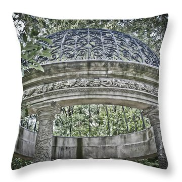 Gazebo At Longwood Gardens Throw Pillow