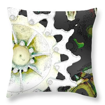 Gears 2 Throw Pillow