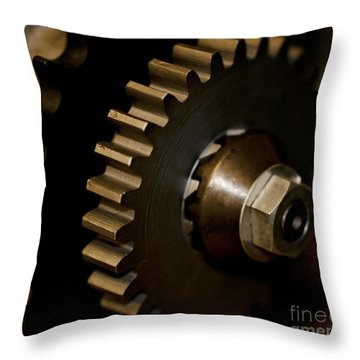 Gears  Throw Pillow by Wilma  Birdwell