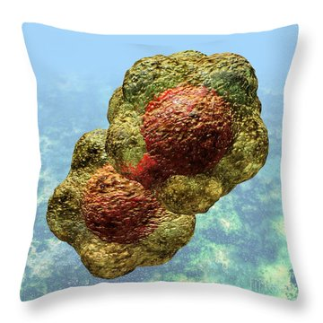 Geminivirus Particle Throw Pillow
