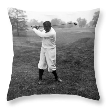 Throw Pillow featuring the photograph Gene Sarazen - Professional Golfer by International  Images