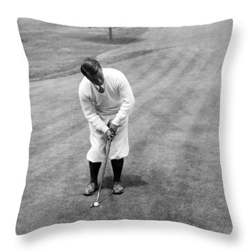 Throw Pillow featuring the photograph Gene Sarazen Playing Golf by International  Images
