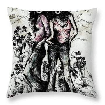 Genes And Roses Throw Pillow by Rachel Christine Nowicki