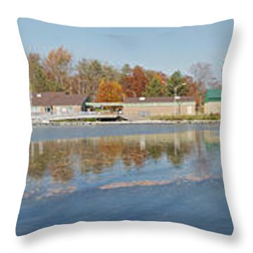 Throw Pillow featuring the photograph Genesee River Panorama by William Norton