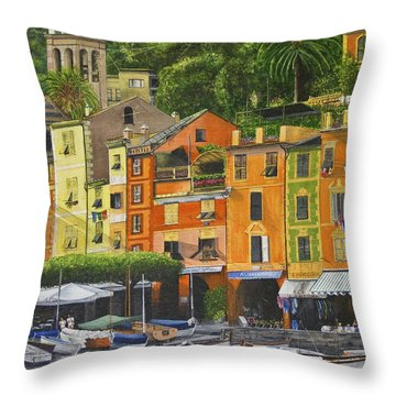 Genoa Marina Throw Pillow by Stuart B Yaeger