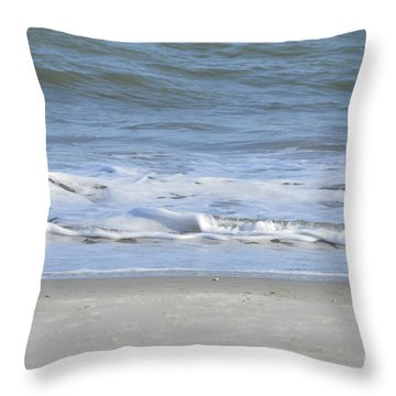 Gentle Tides Throw Pillow by Margaret Palmer