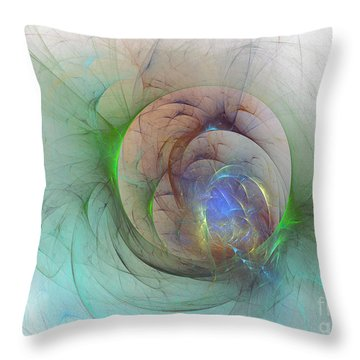 Gentle Trance Throw Pillow