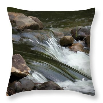 Throw Pillow featuring the photograph Gently Down The Stream by John Crothers